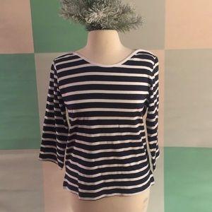 HUBLOT NWT Striped Nautical T-shirt L Navy/white
